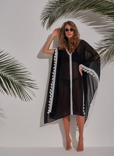Morhipo Beach Püsküllü Kimono Siyah